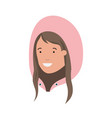 head of woman with winter hat avatar character vector image vector image