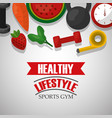 healthy lifestyle sport food vector image vector image
