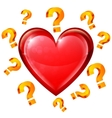 Heart and Question Signs vector image vector image