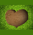 heart of the grass vector image vector image