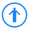 ignorance person pose rounded grainy icon vector image vector image