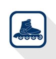 inline roller flat icon vector image vector image