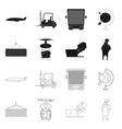 isolated object goods and cargo logo set of vector image vector image