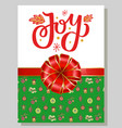 joy greeting gift card for christmas and new year vector image vector image