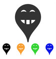 laugth smiley map marker icon vector image