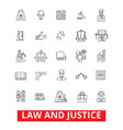 law firm lawyer business attorney scales of vector image