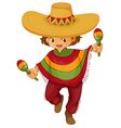 man traditional mexican dress vector image