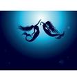 Mermaids dance vector image