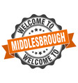 middlesbrough round ribbon seal vector image vector image