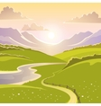 Mountain Landscape Background vector image vector image