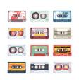 music cassettes electronics audio player mixtape vector image