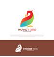 parrot love bird logo design vector image