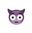 purple demon devil embarrassed face icon with vector image vector image