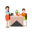 restaurant guest in flat style vector image vector image