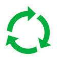 reuse and recycling ecology green organic symbol vector image vector image