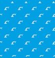 robotic hand manipulator pattern seamless blue vector image vector image