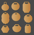 set of different isolated labels and tags vector image