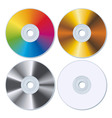 set of four blank cds vector image vector image