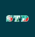 std concept word art vector image vector image