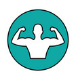 strong man figure icon vector image vector image