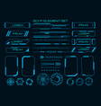 techno cyber ux elements vector image vector image