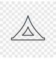 tent toy concept linear icon isolated on vector image