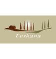 Toskana xs vector image vector image