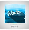 Watercolor abstract background Seasons winter vector image vector image