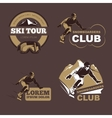 Winter sports snowboarding and skiing club vector image