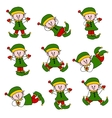 xmas cute elf set vector image vector image