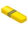 yellow usb flash icon isometric style vector image vector image