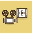 concept cinema camera film strip design vector image