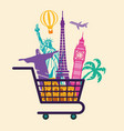 shop travel conceptual symbol vector image
