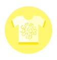 Flat Style T-Shirt Icon with Lettering Element vector image