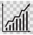 Graph Icon UI on transparent vector image