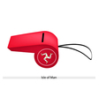 A Whistle of The Isle of Man vector image vector image