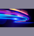 abstract light trail in vector image vector image