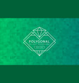 abstract polygonal green background texture vector image