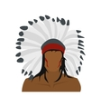 American indian icon vector image vector image