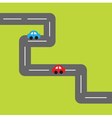 Background with square road and cartoon cars vector image vector image