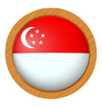 badge design for singapore flag vector image vector image