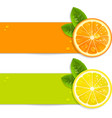 Banners with Orange and Lemon vector image vector image