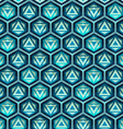blue grid seamless pattern vector image