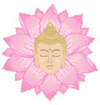 buddha head and lotus cross stitch vector image