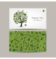 Business card design tropical tree vector image vector image