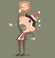 Businessman losing HNY vector image vector image