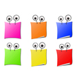 cartoon note pad vector image vector image