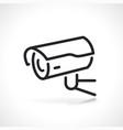 cctv or video surveillance icon vector image