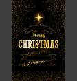 christmas tree card ribbon black background vector image vector image