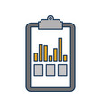 clipboard business graph checklist report vector image vector image